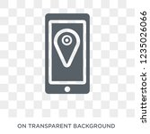 phone location icon. trendy... | Shutterstock .eps vector #1235026066