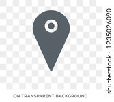 map pin icon. trendy flat... | Shutterstock .eps vector #1235026090