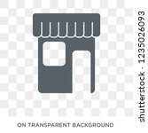 marked place icon. trendy flat... | Shutterstock .eps vector #1235026093