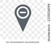 minus location icon. trendy... | Shutterstock .eps vector #1235026096
