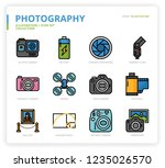 photography icon set | Shutterstock .eps vector #1235026570