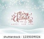 christmas winter landscape... | Shutterstock .eps vector #1235039026
