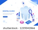 two doctors working together in ... | Shutterstock .eps vector #1235042866