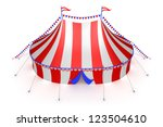 stylized striped circus tent | Shutterstock . vector #123504610
