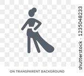 modeling woman icon. trendy... | Shutterstock .eps vector #1235048233