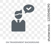 insurance advice icon. trendy... | Shutterstock .eps vector #1235048290
