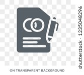 marriage contract icon. trendy... | Shutterstock .eps vector #1235048296