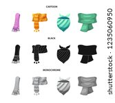 vector design of scarf and... | Shutterstock .eps vector #1235060950