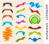 vector illustration of colorful ... | Shutterstock .eps vector #123506209
