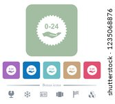 24 hours service sticker white... | Shutterstock .eps vector #1235068876