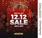 12.12 shopping day sale banner... | Shutterstock .eps vector #1235075023