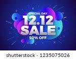 12.12 shopping day sale banner... | Shutterstock .eps vector #1235075026