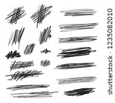 scribble brush strokes set ... | Shutterstock .eps vector #1235082010