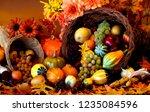 thanksgiving hd background | Shutterstock . vector #1235084596