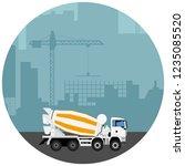 abstract industrial skyline.... | Shutterstock .eps vector #1235085520