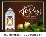 holidays greeting card for... | Shutterstock .eps vector #1235085859