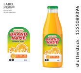 bottle label  package template... | Shutterstock .eps vector #1235089396