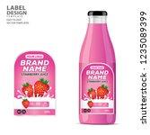 bottle label  package template...   Shutterstock .eps vector #1235089399
