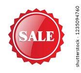 sale label sticker illustration.... | Shutterstock .eps vector #1235094760