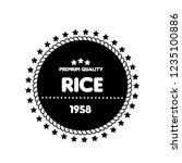 rice premium quality emblem ... | Shutterstock .eps vector #1235100886