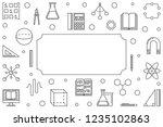 stem education simple... | Shutterstock .eps vector #1235102863