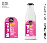 bottle label  package template... | Shutterstock .eps vector #1235106919