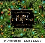 we wish you a very merry... | Shutterstock .eps vector #1235113213
