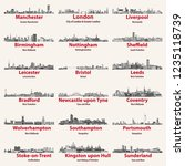 england cities isolated... | Shutterstock .eps vector #1235118739