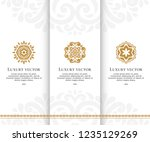 vector set of emblem. elegant ... | Shutterstock .eps vector #1235129269