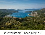 view of slano and adriatic sea... | Shutterstock . vector #1235134156