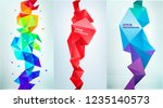 vector set of abstract vertical ... | Shutterstock .eps vector #1235140573