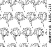 flower peony illustration | Shutterstock . vector #1235141263