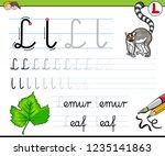cartoon illustration of writing ... | Shutterstock .eps vector #1235141863