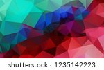 abstract color polygon... | Shutterstock .eps vector #1235142223