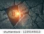 close up of bitcoins inside... | Shutterstock . vector #1235145013