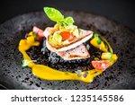 food elegant gourmet elegant... | Shutterstock . vector #1235145586