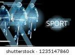 modern poster for sports.... | Shutterstock .eps vector #1235147860