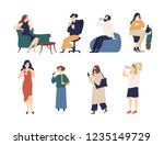 bundle of men and women... | Shutterstock .eps vector #1235149729