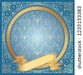 golden ornate decorative...   Shutterstock .eps vector #1235153383