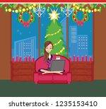 christmas online shopping   Shutterstock .eps vector #1235153410
