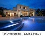external view of a modern house ... | Shutterstock . vector #1235154679