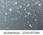 snowfall. christmas snow.... | Shutterstock .eps vector #1235157190