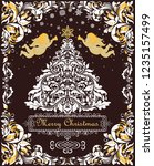 magic christmas greeting card... | Shutterstock . vector #1235157499