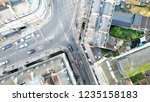 aerial view of a road...   Shutterstock . vector #1235158183