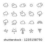 set of weather icon such as... | Shutterstock .eps vector #1235158750