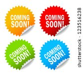 vector coming soon labels set | Shutterstock .eps vector #123516238