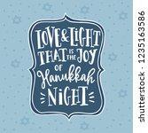 hanukkah  jewish festival of... | Shutterstock .eps vector #1235163586