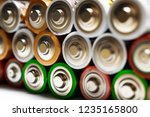 closeup of pile of used... | Shutterstock . vector #1235165800