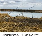 fishing rods in the fall by the ...   Shutterstock . vector #1235165899