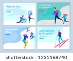 set of landing page templates.... | Shutterstock .eps vector #1235168740